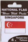 Singapore Country Flag Tattoos.